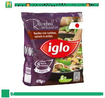 Iglo_Noodles_met_rundvlees,_spinazie_en_peultjes_aanbieding