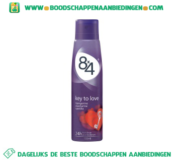 8 x 4 Deospray key to love aanbieding