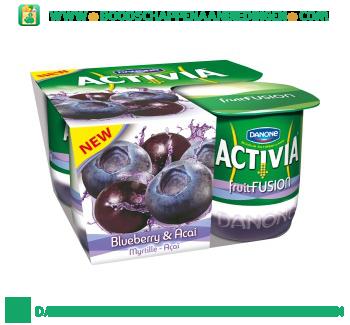 Activia Fruitfusion bosbes & acai aanbieding