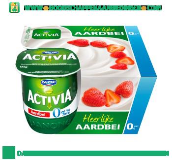 Yoghurt aardbei 0% vet 4-pak aanbieding