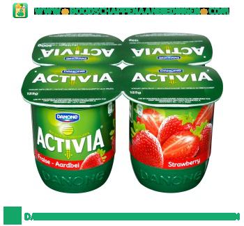 Activia Yoghurt aardbei 4-pak aanbieding