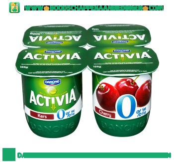 Activia Yoghurt kers 0% vet 4-pak aanbieding