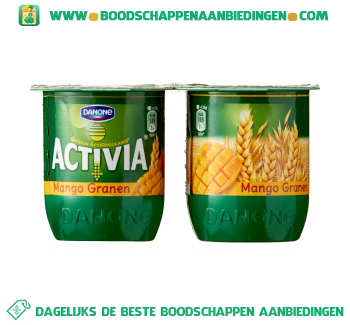 Activia Yoghurt mango granen 4-pak aanbieding