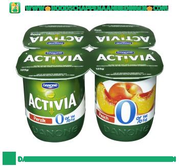 Activia Yoghurt perzik 0% vet 4-pak aanbieding