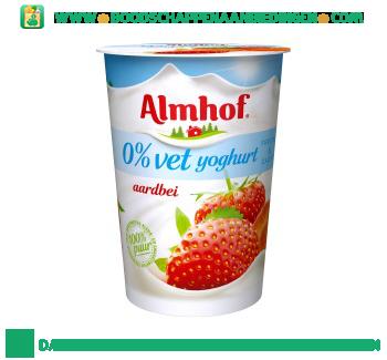 Almhof 0% vet yoghurt aardbei aanbieding