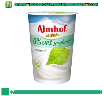 Almhof 0% vet yoghurt naturel aanbieding