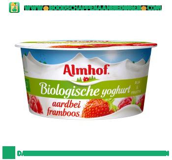 Almhof Biologische yoghurt aardbei framboos aanbieding