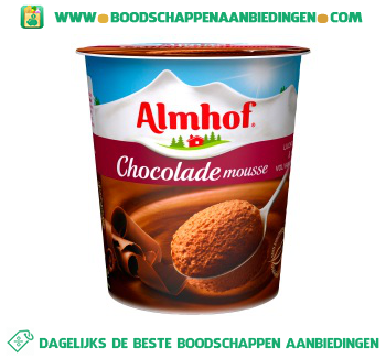 Almhof Chocolademousse aanbieding