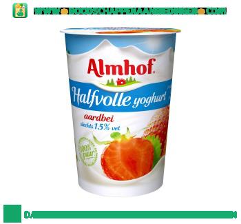 Almhof Halfvolle yoghurt aardbei aanbieding