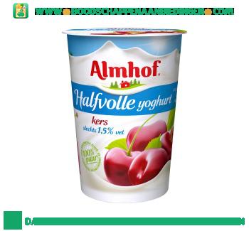 Almhof Halfvolle yoghurt kers aanbieding