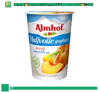 Almhof Halfvolle yoghurt perzik aanbieding