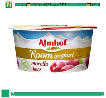 Almhof Roomyoghurt kers aanbieding