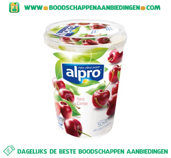 Alpro Plantaardige variatie op yoghurt kers aanbieding