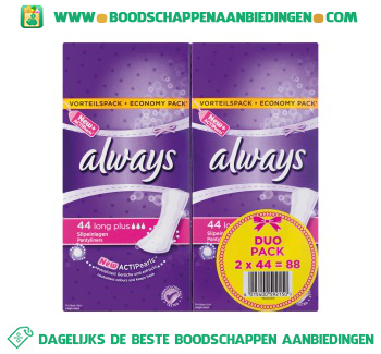 Always Inlegkruisjes long plus duopak aanbieding