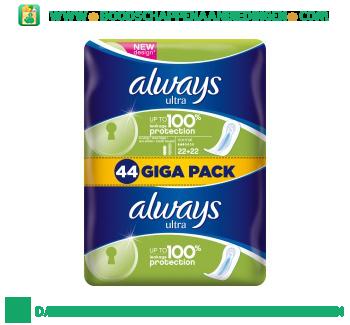 Always Ultra normal maandverband giga pack aanbieding