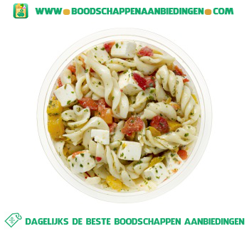 Ambachtelijke pasta pesto salade aanbieding