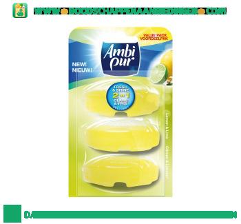 Ambi Pur Toiletblok lemon & lime navulling aanbieding