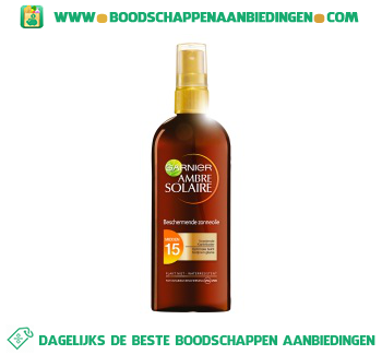 Ambre Solaire Oil spray spf 15 aanbieding