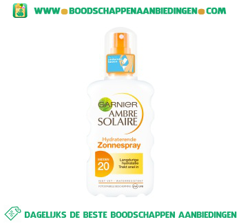 Ambre Solaire Spray spf 20 aanbieding