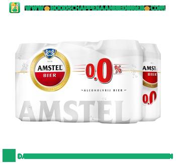 Amstel 0.0% pak 6 blikjes aanbieding