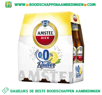 Amstel Radler 0.0% lemon pak 6 flesjes aanbieding
