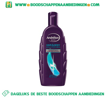 Andrélon Shampoo for men hair & body aanbieding