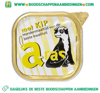 Aras Kip hondenmaaltijd aanbieding
