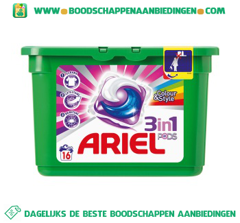 Ariel 3in1 PODS color wascapsules 16 wasbeurten aanbieding