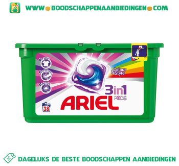 Ariel 3in1 PODS color wascapsules 38 wasbeurten aanbieding