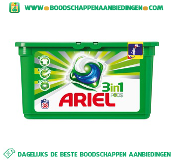 Ariel 3in1 PODS regular wascapsules 38 wasbeurten aanbieding