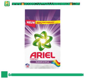 Ariel Compact waspoeder kleur & stijl 15 wasbeurten aanbieding
