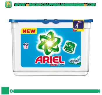 Ariel Excel tabs alpine wascapsules 13 wasbeurten aanbieding