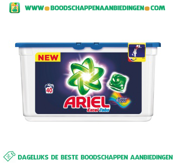 Ariel Excel tabs color wascapsules 40 wasbeurten aanbieding