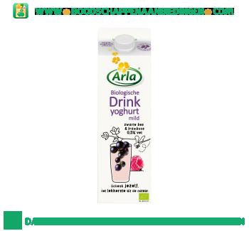 Arla Biologische drinkyoghurt mild zwarte bes-framboos aanbieding