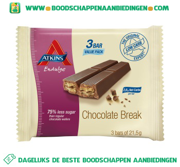 Atkins Chocolate break aanbieding