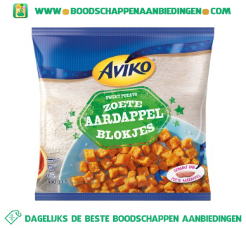 Zoete aardappelblokjes aanbieding