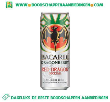 Bacardi Red dragon aanbieding