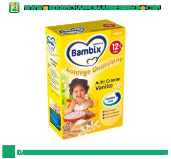 Bambix Ontbijtpap 8 granen & vanille 12+ aanbieding