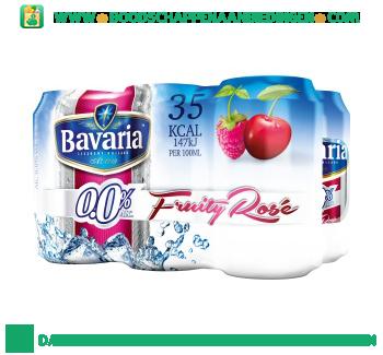 Bavaria 0.0% fruity rose pak 6 blikjes aanbieding