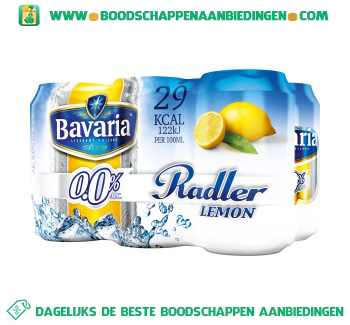 0.0% radler lemon pak 6 blikjes aanbieding