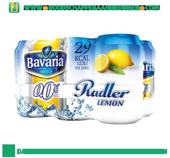 Bavaria 0.0% radler lemon pak 6 blikjes aanbieding