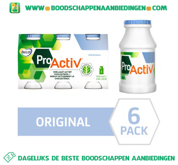 Becel Mini Yoghurt Drinks Pro.activ Original aanbieding