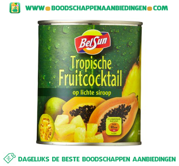 Belsun Tropische fruitcocktail op lichte siroop aanbieding
