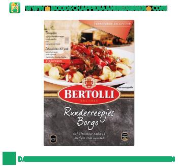 Bertolli Maaltijdpakket runderreepjes borgo aanbieding