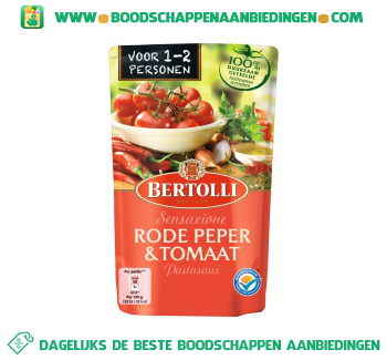 Bertolli Pastasaus rode pepers & tomaat aanbieding
