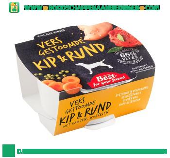 Best for your friend Gestoomde kip & rund voor hond aanbieding