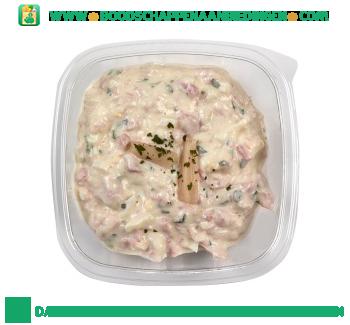 Gegarneerde asperge-hamsalade aanbieding