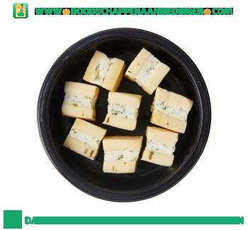 Bijzonder Lekker Gevulde kaasblokjes met bieslook roomkaas aanbieding