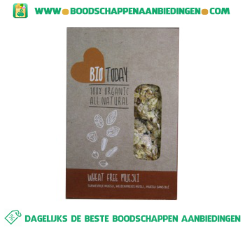 Bio today High energy muesli aanbieding