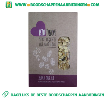 Bio today Super muesli aanbieding